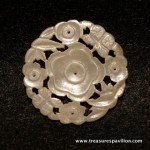 Darling White Jade Flower Button, 18th c.